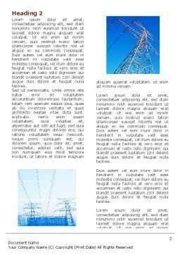 Transmission Lines Word Template, First Inner Page, 06482, Utilities/Industrial — PoweredTemplate.com