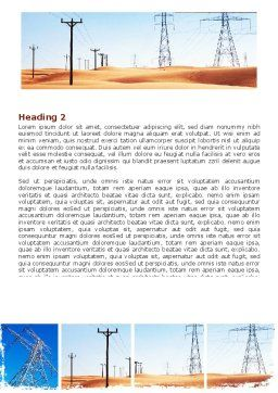 Transmission Lines Word Template, Second Inner Page, 06482, Utilities/Industrial — PoweredTemplate.com