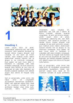 Rowing Word Template, First Inner Page, 06483, Sports — PoweredTemplate.com