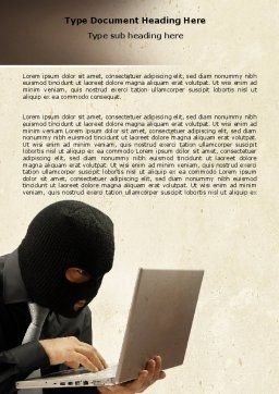 Hacking Word Template, Cover Page, 06485, Legal — PoweredTemplate.com