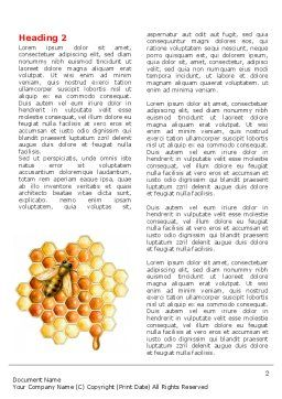 Beehive Word Template, First Inner Page, 06490, Nature & Environment — PoweredTemplate.com