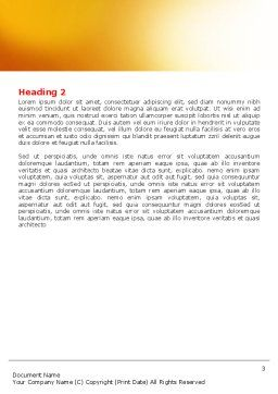 Beehive Word Template Second Inner Page