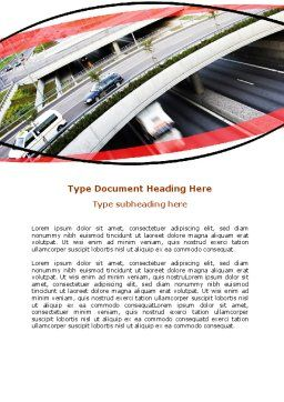 Free Road Junction Word Template, Cover Page, 06492, Cars/Transportation — PoweredTemplate.com