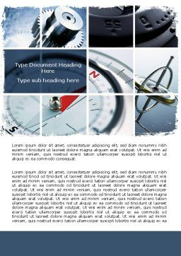 Navigation Instruments Word Template, Cover Page, 06497, Business Concepts — PoweredTemplate.com