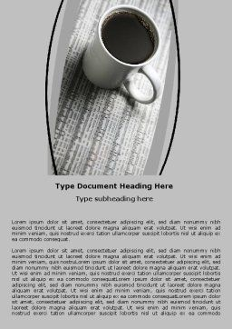 Morning Coffee Cup Word Template Cover Page