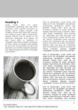 Morning Coffee Cup Word Template First Inner Page