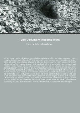 Money Black Hole Word Template, Cover Page, 06504, Financial/Accounting — PoweredTemplate.com