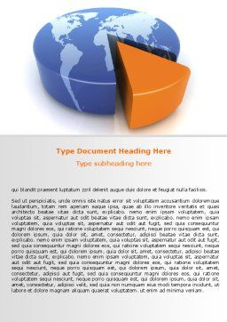 3D Diagram Word Template, Cover Page, 06511, Consulting — PoweredTemplate.com