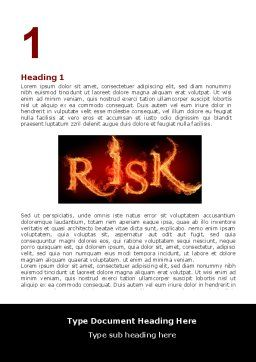 Word Risk In Fire Word Template, First Inner Page, 06516, Consulting — PoweredTemplate.com