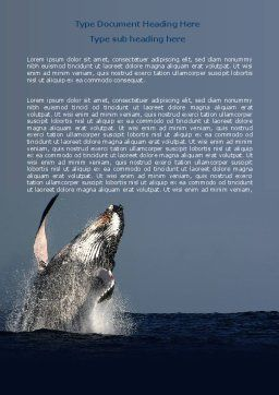 Humpback Whale Word Template Cover Page