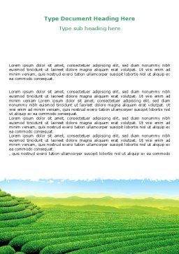 Tea Plantation Word Template, Cover Page, 06526, Agriculture and Animals — PoweredTemplate.com