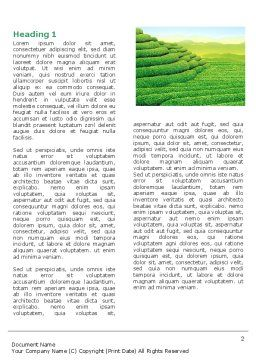 Tea Plantation Word Template First Inner Page