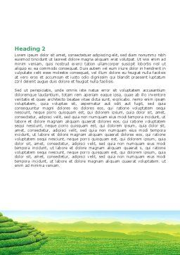 Tea Plantation Word Template, Second Inner Page, 06526, Agriculture and Animals — PoweredTemplate.com