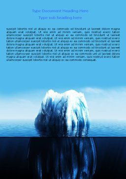 Ice Berg Word Template, Cover Page, 06528, Nature & Environment — PoweredTemplate.com