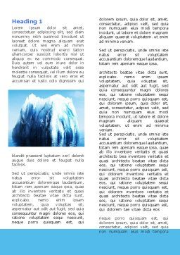 Ice Berg Word Template First Inner Page