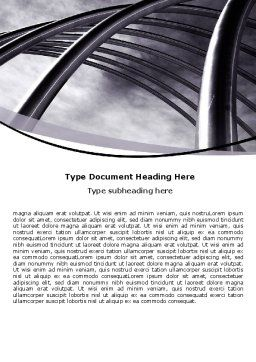 Free Arch Word Template, Cover Page, 06531, Construction — PoweredTemplate.com