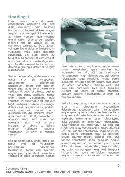 Jigsaw Word Template, First Inner Page, 06532, Business — PoweredTemplate.com