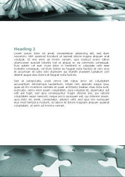 Jigsaw Word Template, Second Inner Page, 06532, Business — PoweredTemplate.com