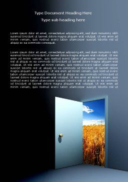 Open Door To The World Word Template, Cover Page, 06533, Consulting — PoweredTemplate.com