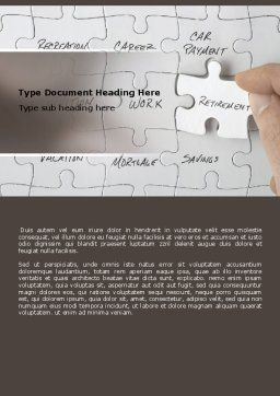 Financial Planning Word Template, Cover Page, 06534, Consulting — PoweredTemplate.com