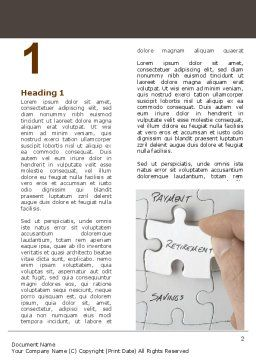 Financial Planning Word Template, First Inner Page, 06534, Consulting — PoweredTemplate.com
