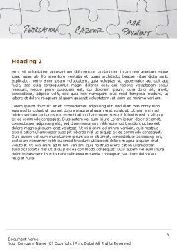 Financial Planning Word Template, Second Inner Page, 06534, Consulting — PoweredTemplate.com