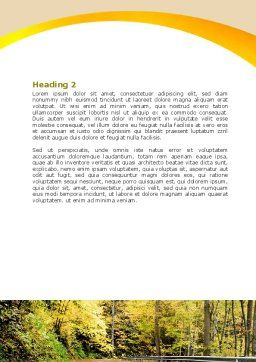 Autumn Road Word Template, Second Inner Page, 06536, Construction — PoweredTemplate.com