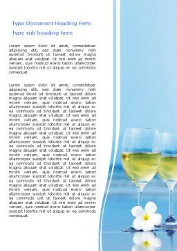 Two Wineglasses Word Template, Cover Page, 06540, Careers/Industry — PoweredTemplate.com