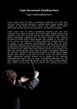 Music Conductor Word Template, Cover Page, 06541, Careers/Industry — PoweredTemplate.com