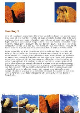 Yellow Rocks Word Template Second Inner Page