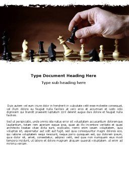 Chess Tactics Word Template, Cover Page, 06544, Business Concepts — PoweredTemplate.com