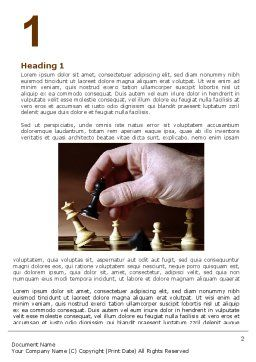 Chess Tactics Word Template, First Inner Page, 06544, Business Concepts — PoweredTemplate.com
