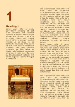 Antique Interior With Chess Word Template, First Inner Page, 06545, Business — PoweredTemplate.com