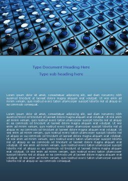 Membrane Word Template, Cover Page, 06548, Consulting — PoweredTemplate.com