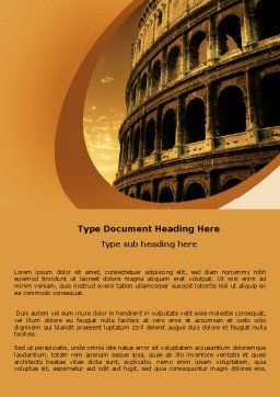 Colosseum Word Template, Cover Page, 06549, Construction — PoweredTemplate.com