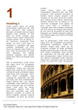 Colosseum Word Template, First Inner Page, 06549, Construction — PoweredTemplate.com