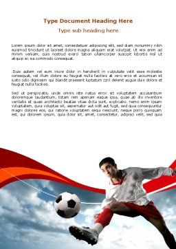 Penalty Kick Word Template, Cover Page, 06550, Sports — PoweredTemplate.com