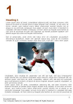 Penalty Kick Word Template, First Inner Page, 06550, Sports — PoweredTemplate.com