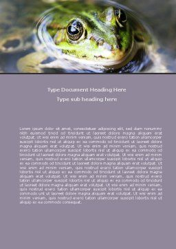 Marsh Frog Word Template Cover Page