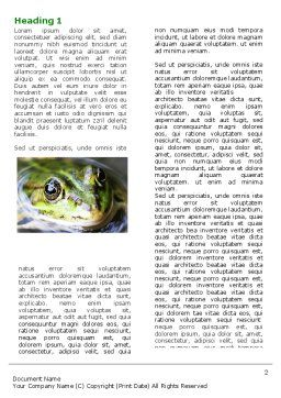 Marsh Frog Word Template First Inner Page