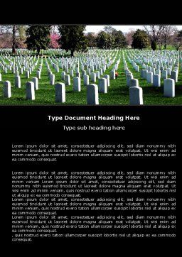 Cemetery Word Template, Cover Page, 06555, Holiday/Special Occasion — PoweredTemplate.com