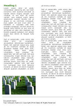 Cemetery Word Template, First Inner Page, 06555, Holiday/Special Occasion — PoweredTemplate.com