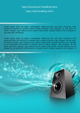Music Speaker Word Template Cover Page