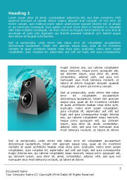 Music Speaker Word Template First Inner Page