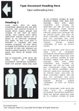 Gender Difference Word Template, First Inner Page, 06561, Consulting — PoweredTemplate.com