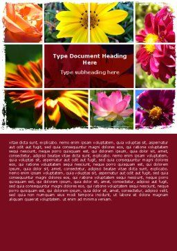 Garden Flowers Word Template, Cover Page, 06562, Agriculture and Animals — PoweredTemplate.com