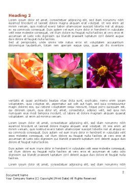 Garden Flowers Word Template, First Inner Page, 06562, Agriculture and Animals — PoweredTemplate.com