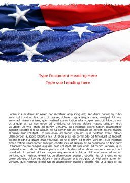 Proudly Soaring American Flag Word Template, Cover Page, 06563, America — PoweredTemplate.com