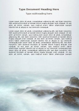 Misty Shore Word Template, Cover Page, 06564, Nature & Environment — PoweredTemplate.com