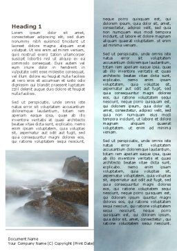 Misty Shore Word Template, First Inner Page, 06564, Nature & Environment — PoweredTemplate.com